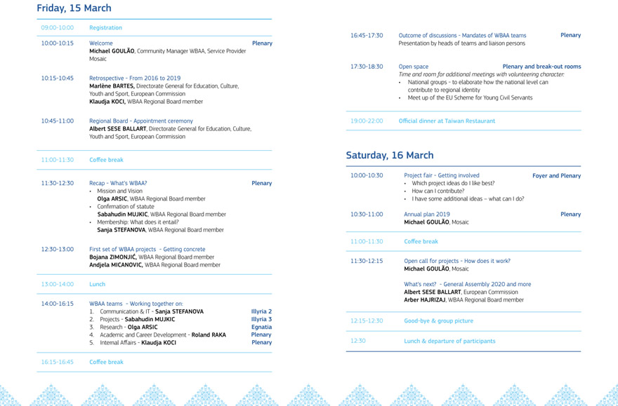 1st General Assembly Programme